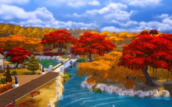 Sims 4 Autumn in TS4   340 override plant recolors at Dani Paradise