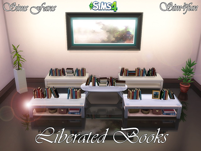 Sims 4 Liberated Books by Sim4fun at Sims Fans