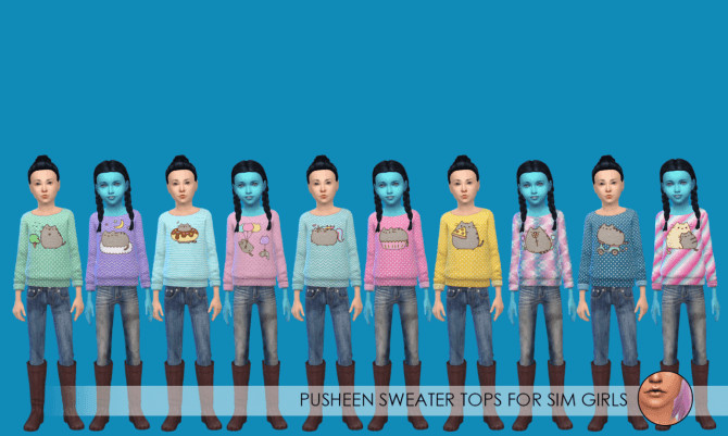 Pusheen Sweater Tops at Erica Loves Sims image 108 1 670x401 Sims 4 Updates