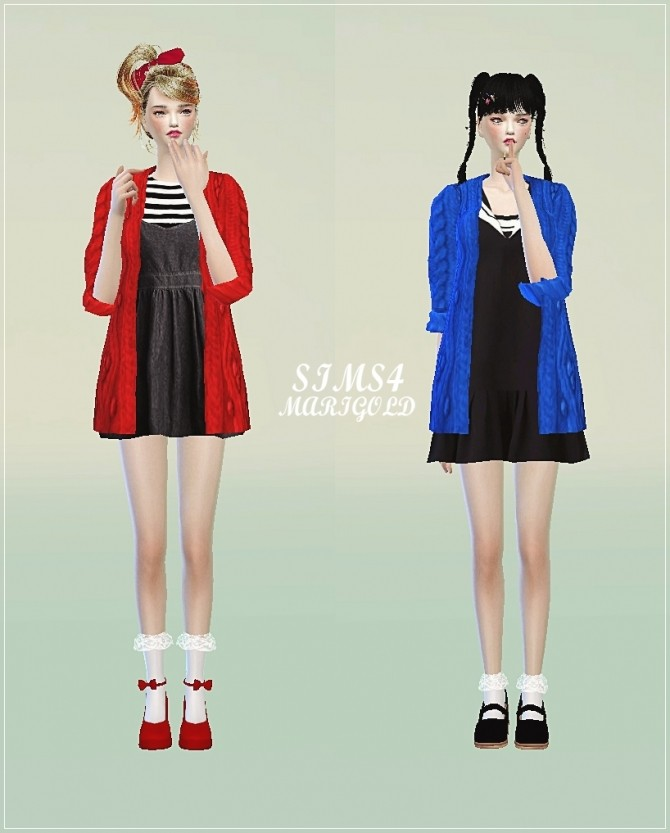 Sims 4 ACC cardigan at Marigold