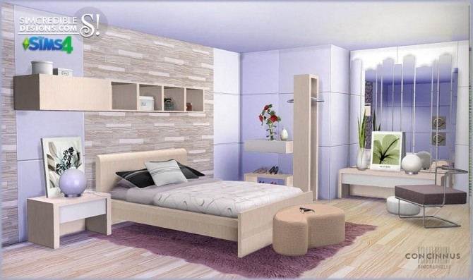 Concinnus bedroom at SIMcredible! Designs 4 image 1102 670x397 Sims 4 Updates