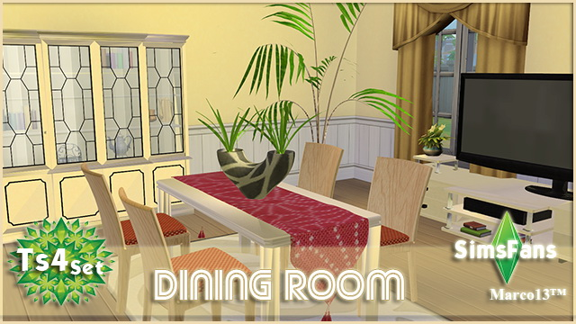 Sims 4 DiningRoom NewMesh by Marco13 at Sims Fans