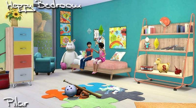 Happy Bedroom For Kids By Pilar At SimControl