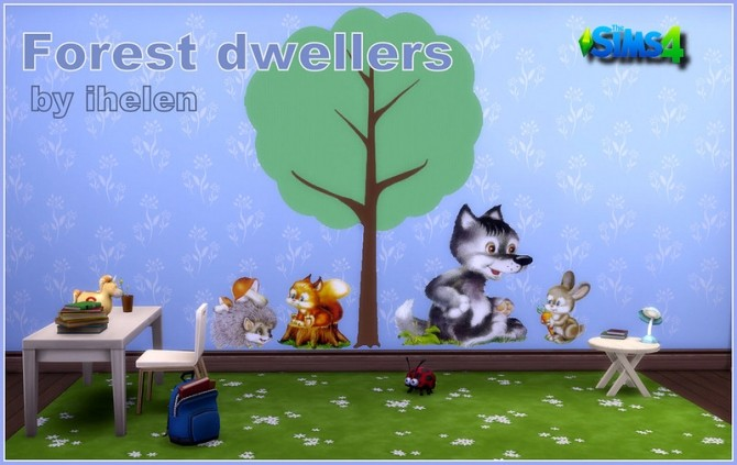 Sims 4 Stickers Forest dwellers at ihelensims
