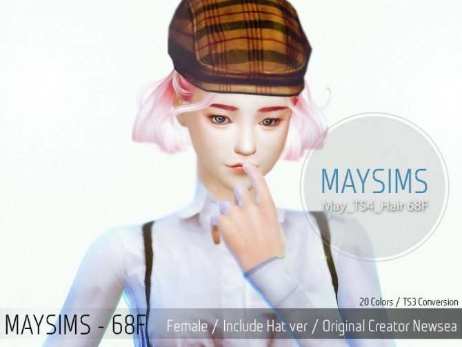 Sims 4 Hair 68F (Newsea) at May Sims
