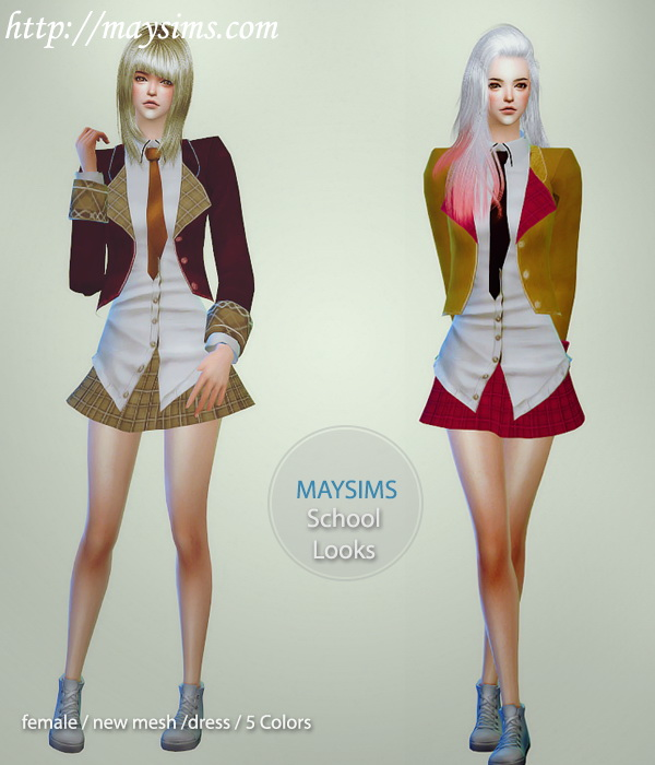School Clothes at May Sims image 1114 Sims 4 Updates