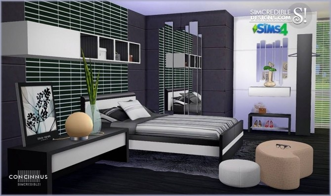 Concinnus bedroom at SIMcredible! Designs 4 image 1122 670x397 Sims 4 Updates