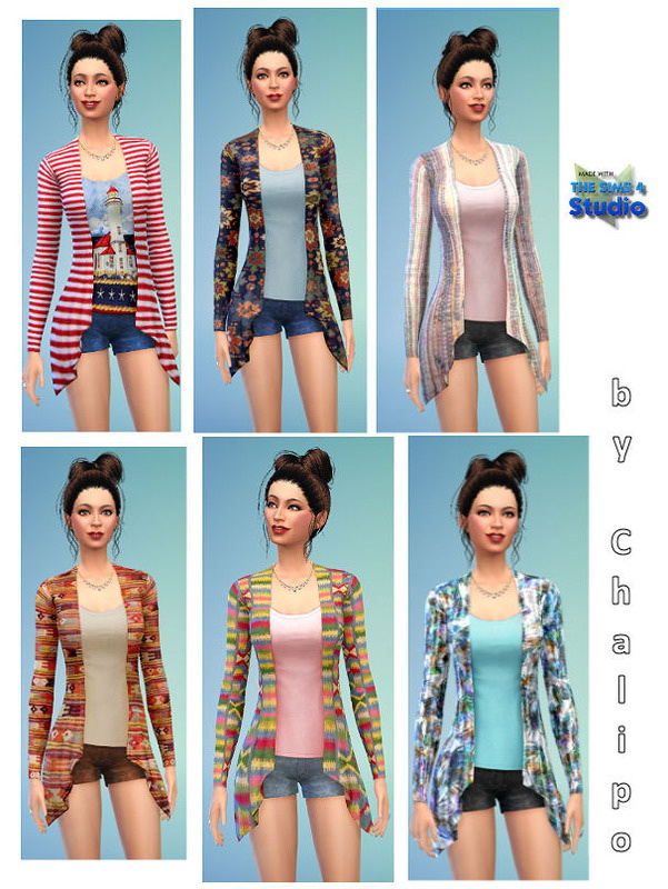 Sims 4 Long jacket with shorts by Chalipo at All 4 Sims
