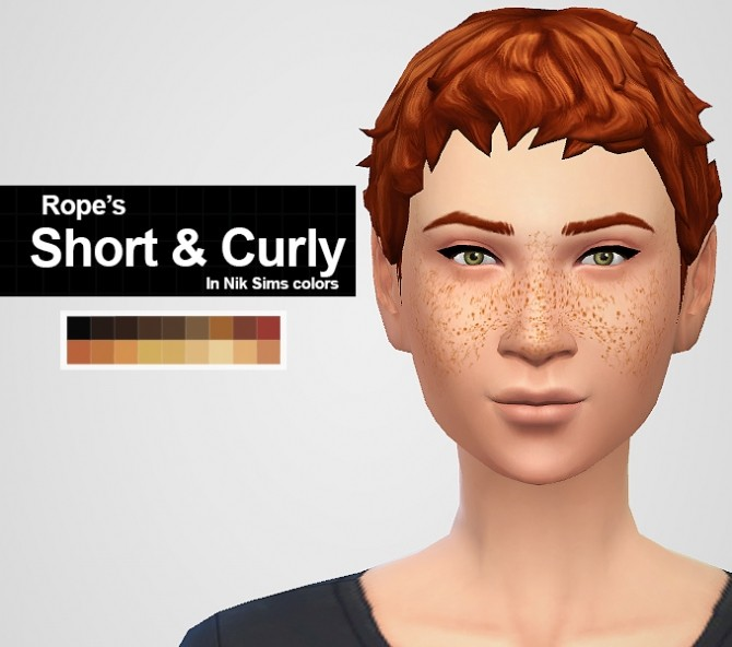 Sims 4 MORE OF ROPE'S HAIRS IN NIKSIM'S COLORS at MintyOwls