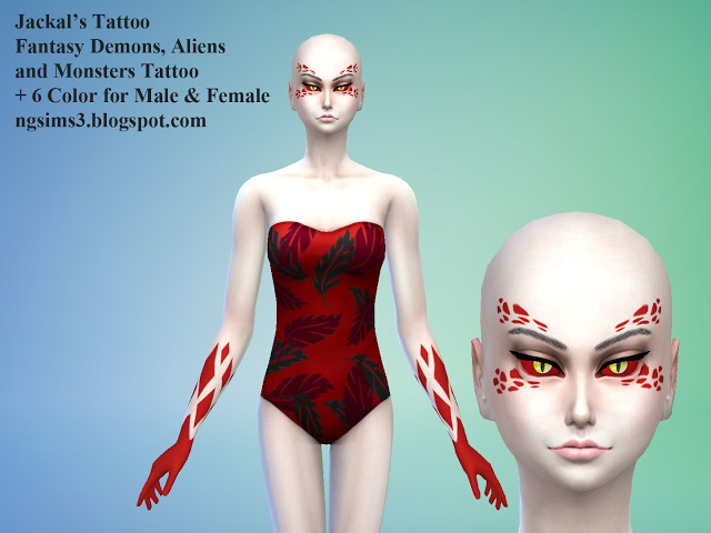 Sims 4 Jackals Fantasy Tattoo at NG Sims3