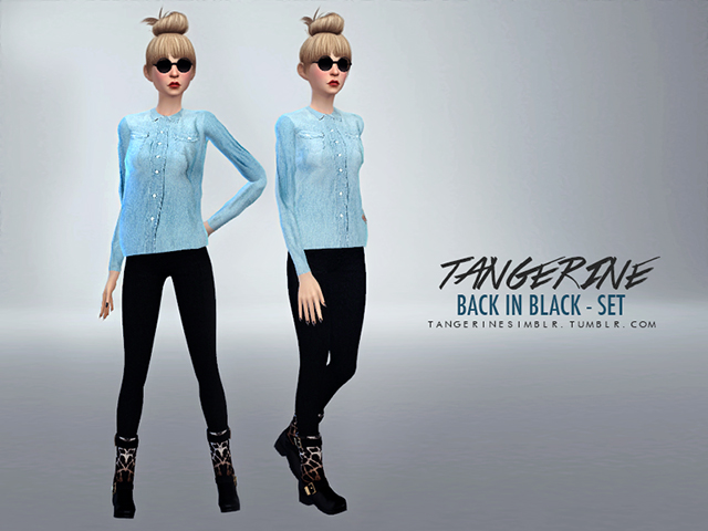 Sims 4 Back in Black Set by tangerine at Sims Fans