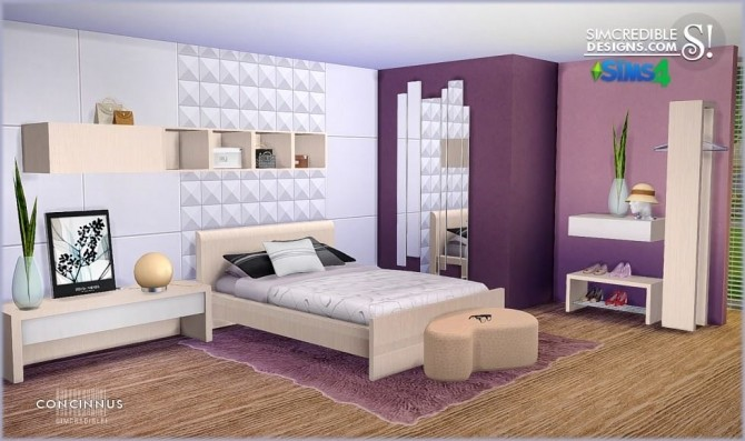 Concinnus bedroom at SIMcredible! Designs 4 image 1152 670x397 Sims 4 Updates