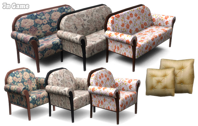 Sims 4 Charlotte Living Room Set at Lunararc