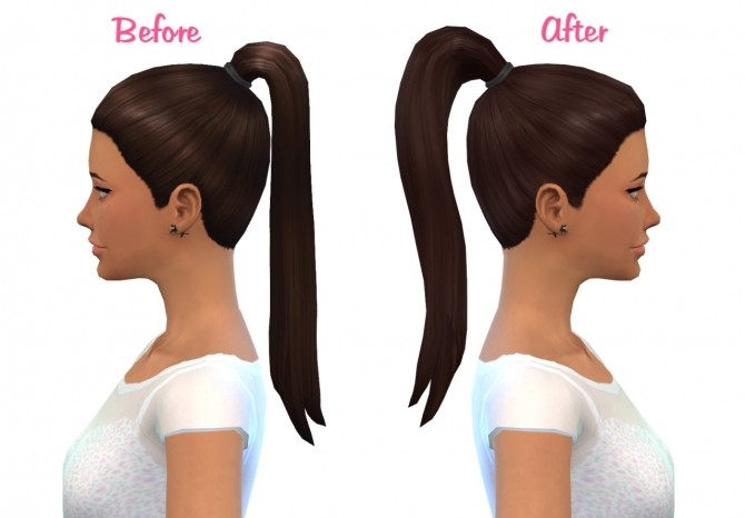 Sims 4 High ponytail at Nyloa