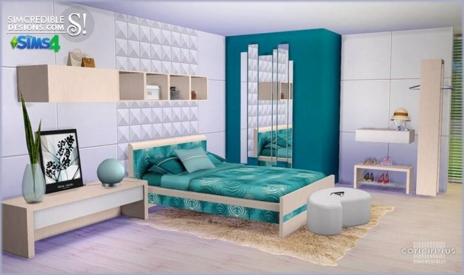 Concinnus bedroom at SIMcredible! Designs 4 image 1172 670x397 Sims 4 Updates