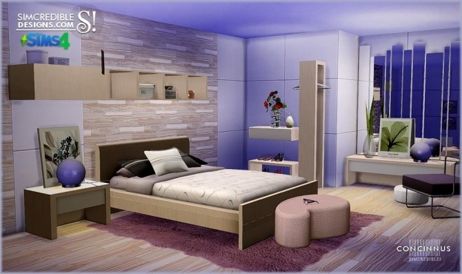 Concinnus bedroom at SIMcredible! Designs 4 image 1182 670x397 Sims 4 Updates
