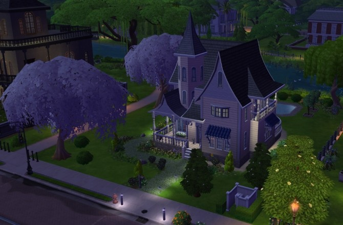Sims 4 Magnolia Victorian Cottage by BaronessTrash at Mod The Sims