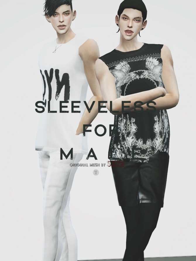 Sleeveless top for males at Black le image 12012 670x893 Sims 4 Updates