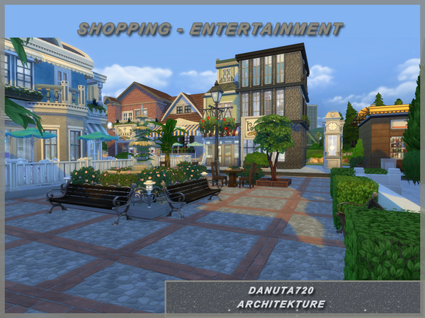 Shopping Entertainment center by Danuta720 at TSR image 12104 Sims 4 Updates