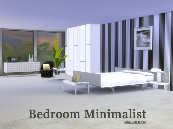 Bedroom Minimalist by ShinoKCR at TSR image 1218 Sims 4 Updates