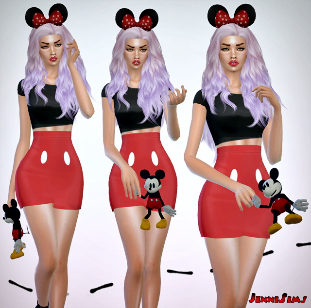 Sims 4 Mickey Doll (right ,left) acc at Jenni Sims