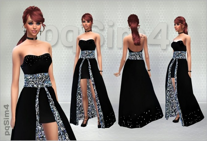 Velvet Night Party Dress at pqSims4 image 1241 670x457 Sims 4 Updates