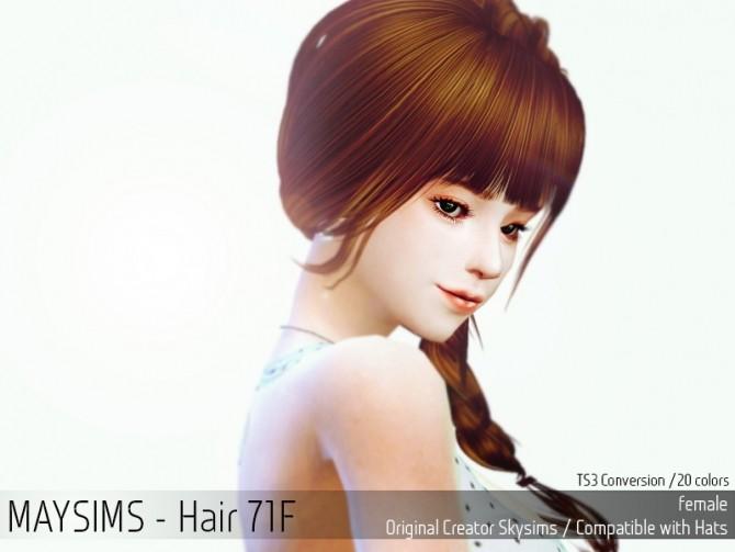 Sims 4 Hair 71F (Skysims) at May Sims