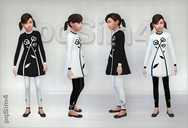 Sims 4 Nina Dress and Leggings Set at pqSims4