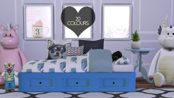 Sims 4 Basic Day Frame Bed Mesh at DreamCatcherSims4