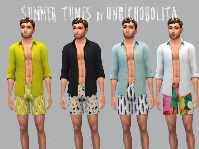 Sims 4 Male version of the Summer Tunes Collection at Un bichobolita