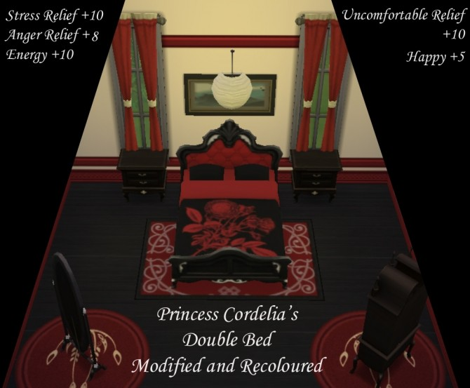 Princess Cordelias Double Bed edit by Simmiller at Mod The Sims image 12520 670x553 Sims 4 Updates