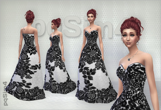 Sims 4 Long Lace Dresses at pqSims4