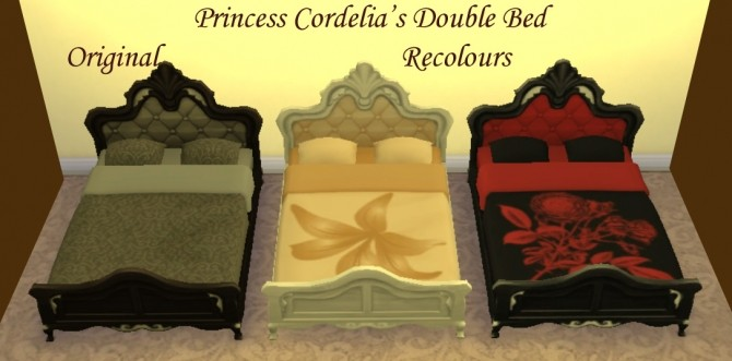 Princess Cordelias Double Bed edit by Simmiller at Mod The Sims image 12620 670x331 Sims 4 Updates