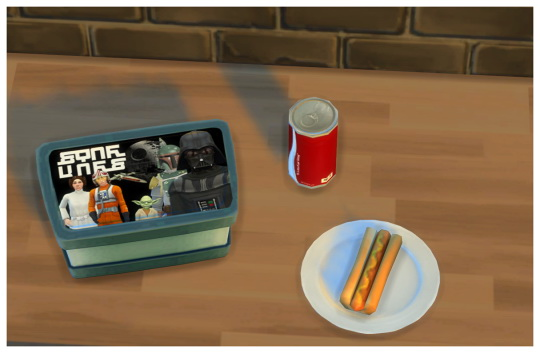 Sims 4 Simlish Movie and TV Show Lunchboxes for Kids at SimDoughnut