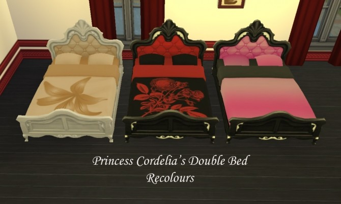 Princess Cordelias Double Bed edit by Simmiller at Mod The Sims image 12718 670x401 Sims 4 Updates