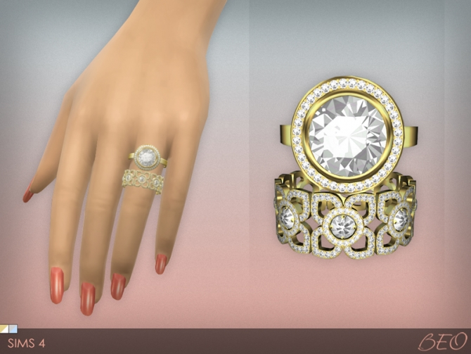 Diamond Rings Set At Beo Creations 187 Sims 4 Updates