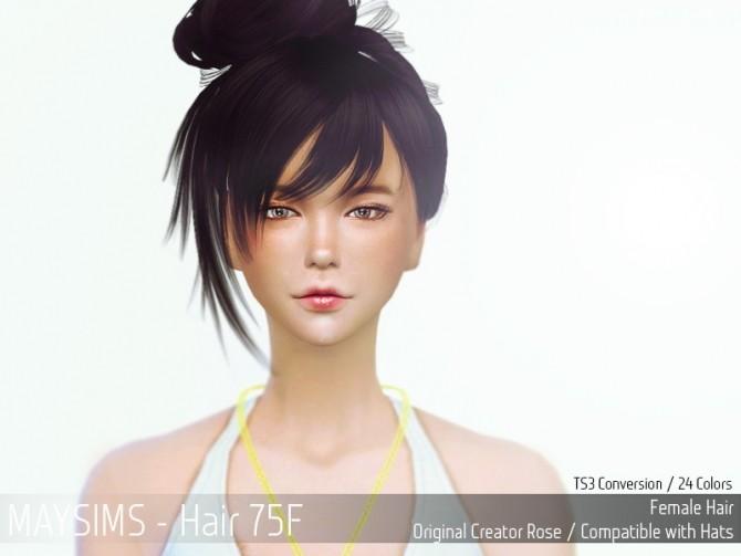Hair 75F (Rose) at May Sims image 12819 670x503 Sims 4 Updates