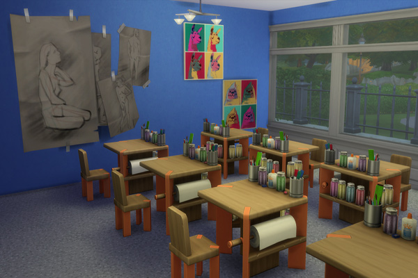 Sims 4 Elementary school by MadameChaos at Blacky's Sims Zoo