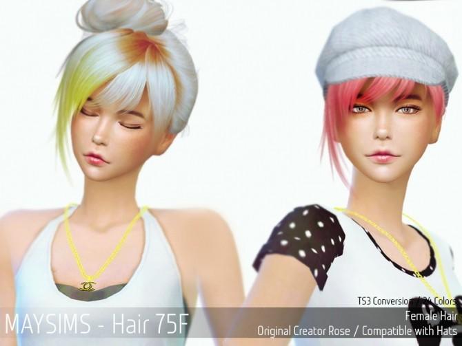 Hair 75F (Rose) at May Sims image 12918 670x503 Sims 4 Updates