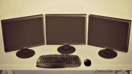 Sims 4 Triple Monitor Desktop Computer at LindseyxSims