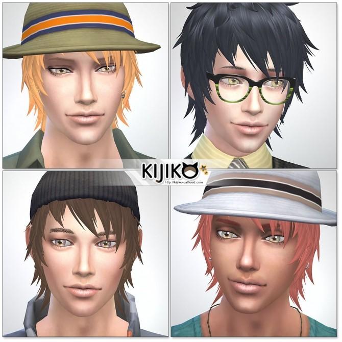 Sims 4 Shaggy Short hair for males at Kijiko