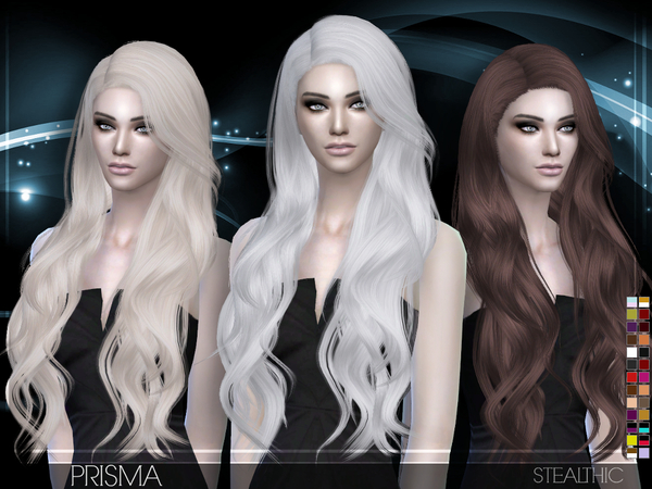 Sims 4 Prisma Female Hair by Stealthic at TSR