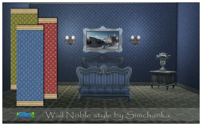 Sims 4 Wall Noble style by Simchanka at ihelensims