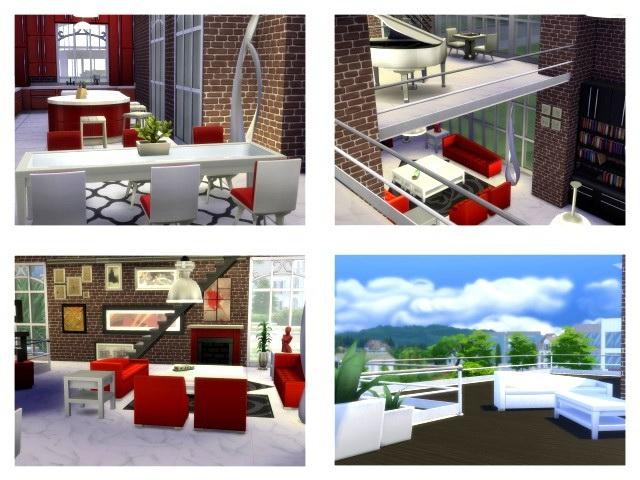 Sims 4 Rheinaue 2 house by Oldbox at All 4 Sims