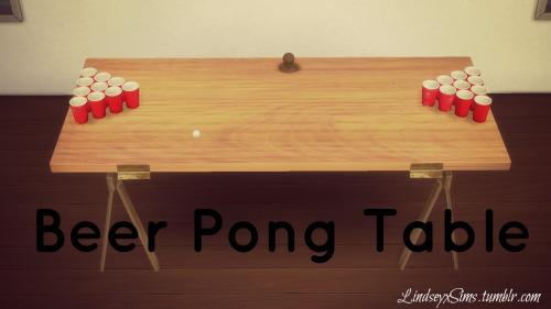 Sims 4 Beer pong table at LindseyxSims