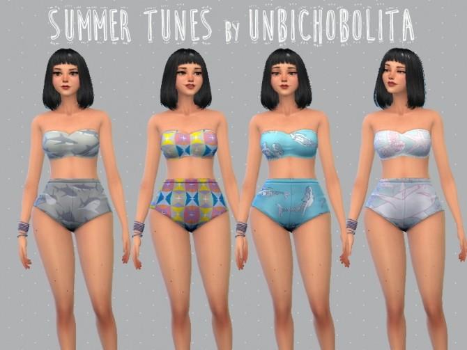 Sims 4 Summer tunes bikini at Un bichobolita