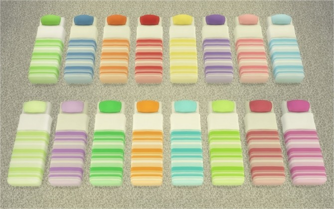 Sims 4 Mattresses for Bed Frames with Stripes at Veranka