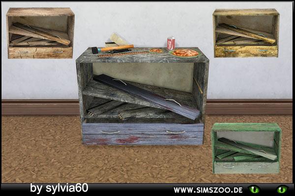 Sims 4 Broken Sideboard by sylvia60 at Blacky's Sims Zoo