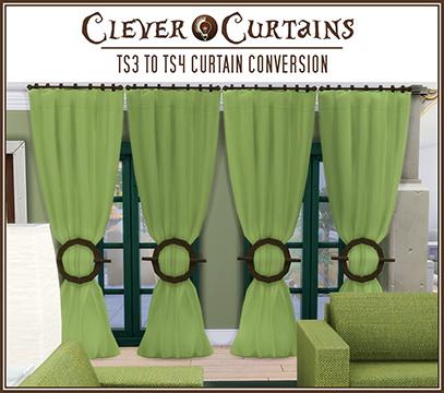 Sims 4 Clever curtains FIXED at Jorgha Haq