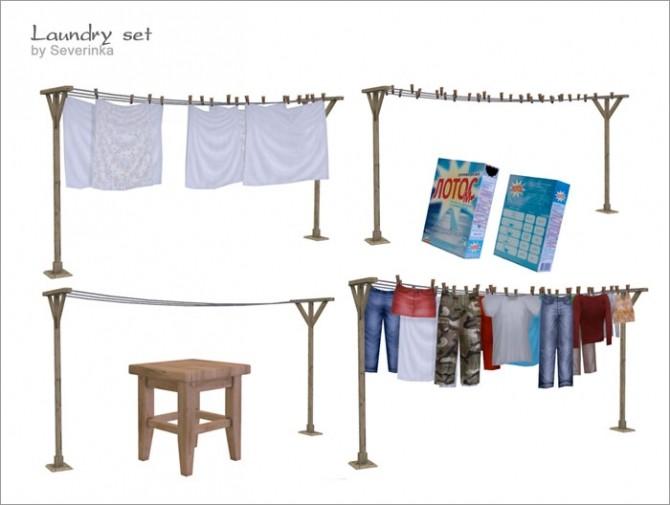 Sims 4 Laundry set at Sims by Severinka